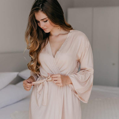 Powder Ruffle Robe - Salam Gorgeous