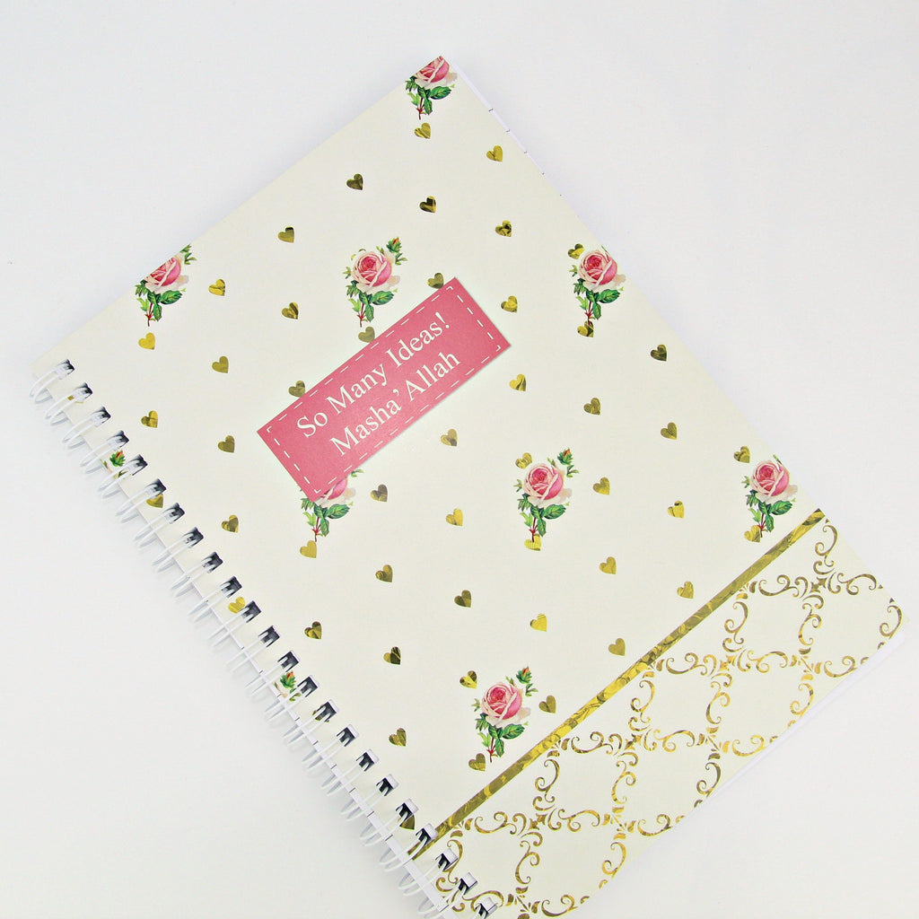 Roses Notebook - Halal Goodies