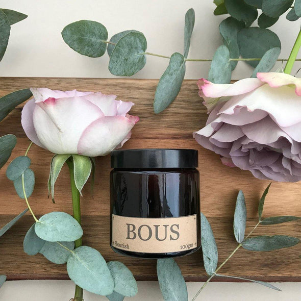 Flourish- Medium Hand Poured Soy Aromatherapy Candle with Wooden Wick - Salam Gorgeous
