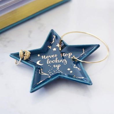 Small 'Never Stop Looking Up' Star Trinket Dish