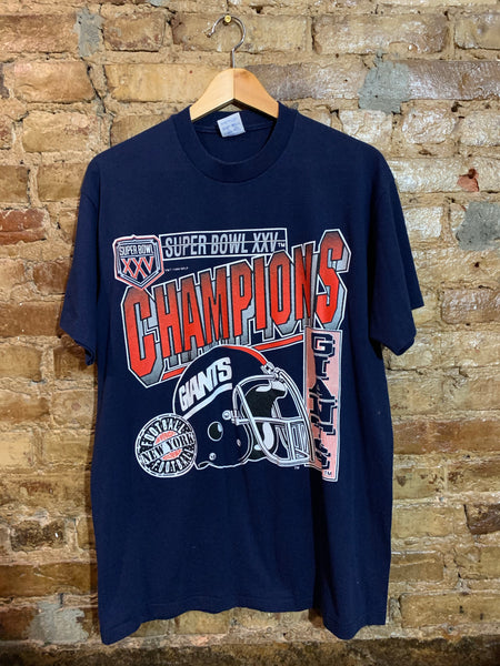 Giants XXV Super Bowl Champions size XL