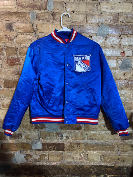 New York Rangers Satin Jacket Youth L/Adult S