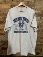 New York Yankees Subway Series 3X Champions 2000 Tshirt XXL