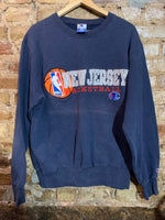 New Jersey Nets Practice Crewneck L