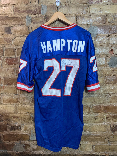 Giants Hampton Signed Jersey 40/M