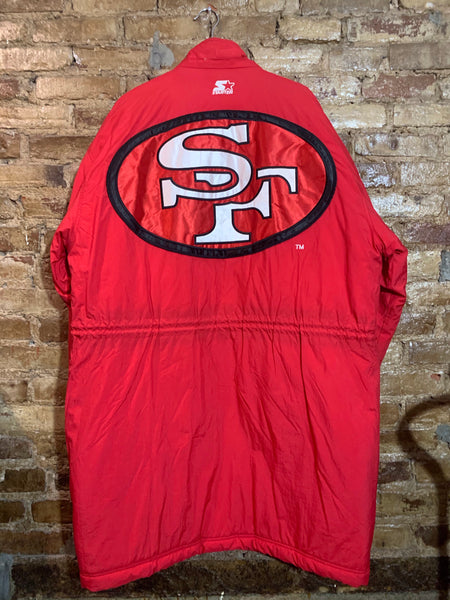 San Francisco 49ers Stadium Trench Coat XL