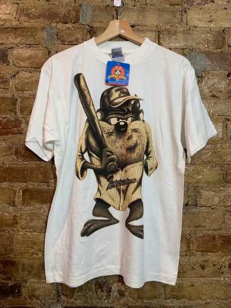 Tasmanian Devil Baseball Tshirt Looney Tunes Youth XL Men's M