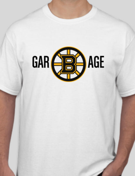 Bruins Garbage White Tee