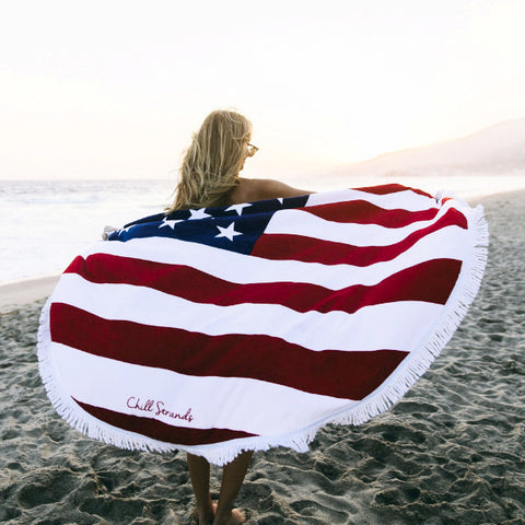 Flag Round Towels