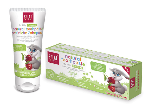 SPLAT KIDS natural toothpaste for children from 2-6 years - twentyfiveoseven Limited