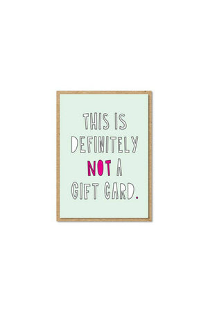Near Modern Disaster - Not A Gift Card (Small Card)