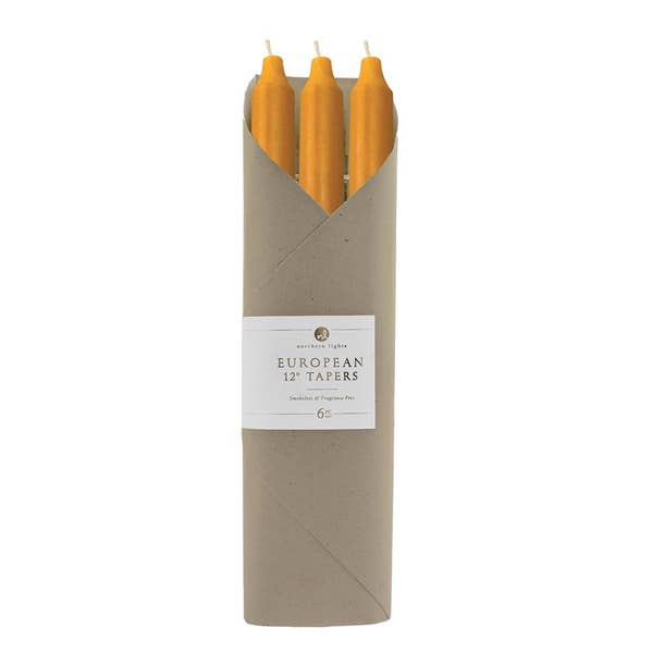 "12"" Taper Candle - 6 pack - Caramel"