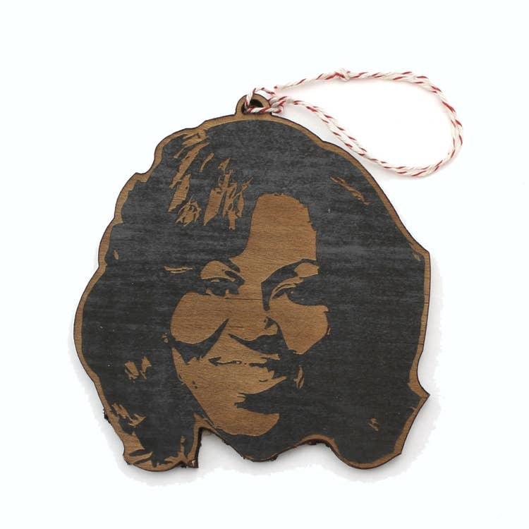 LetterCraft Wood Ornament- Michelle Obama