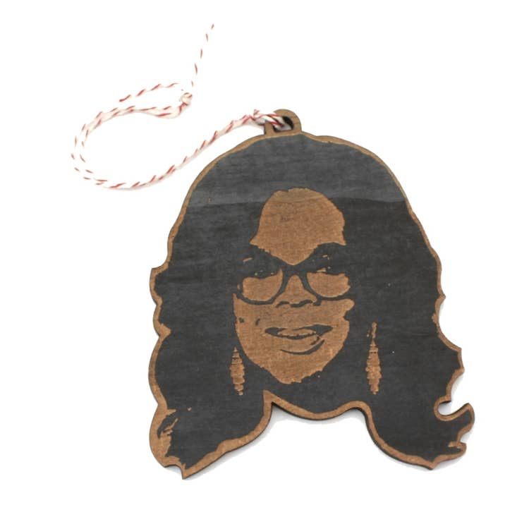 LetterCraft Wood Ornament - Oprah Winfrey