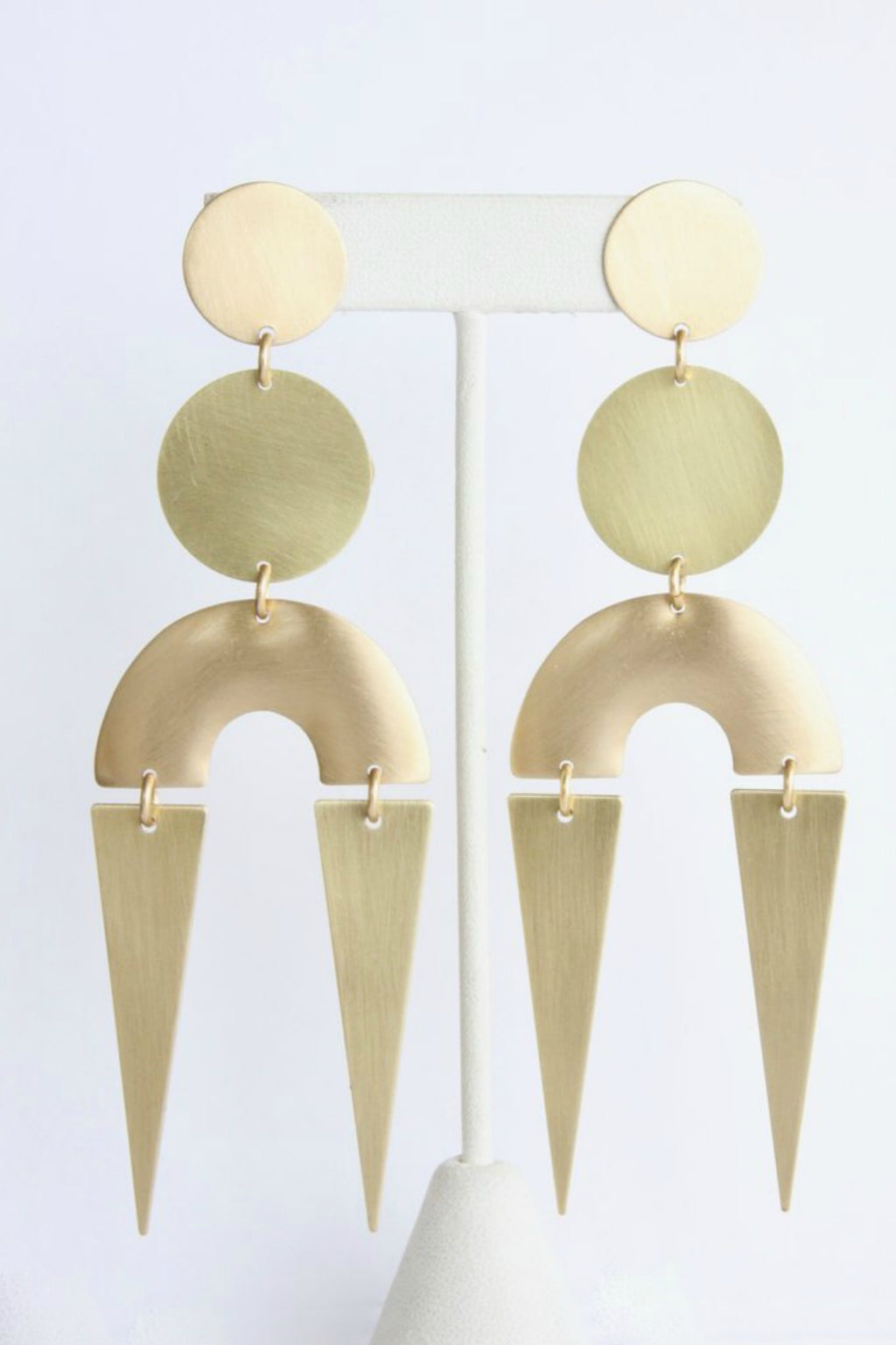 David Aubrey Brass Shape Earrings