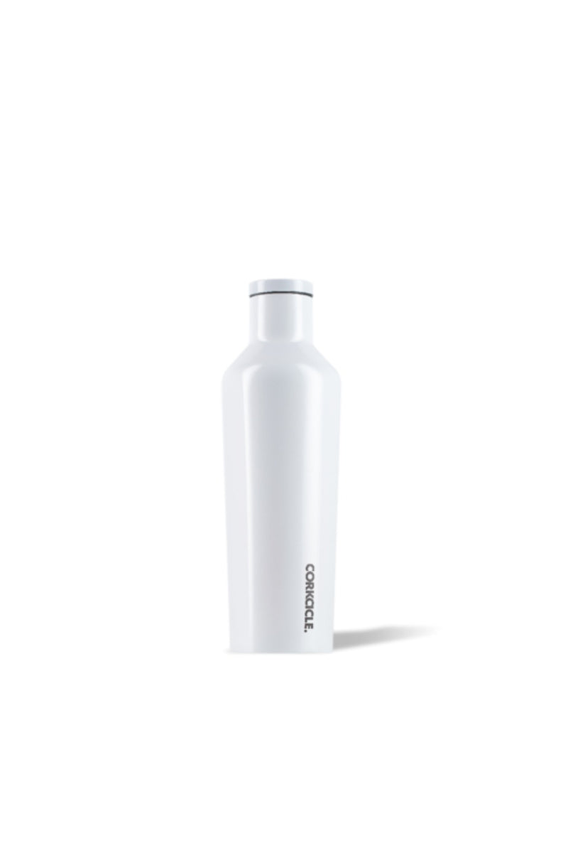 Corkcicle 16 oz. Classic & Dipped Canteen in Gloss White