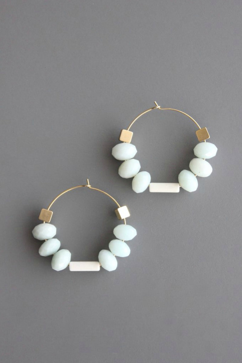 David Aubrey Amazonite & Brass Earrings