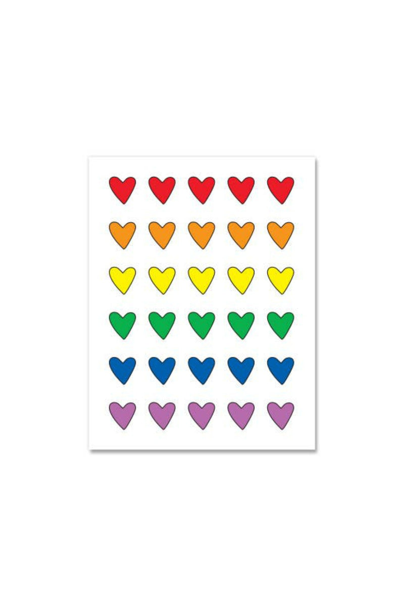 Near Modern Disaster Greeting Card - Rainbow Hearts