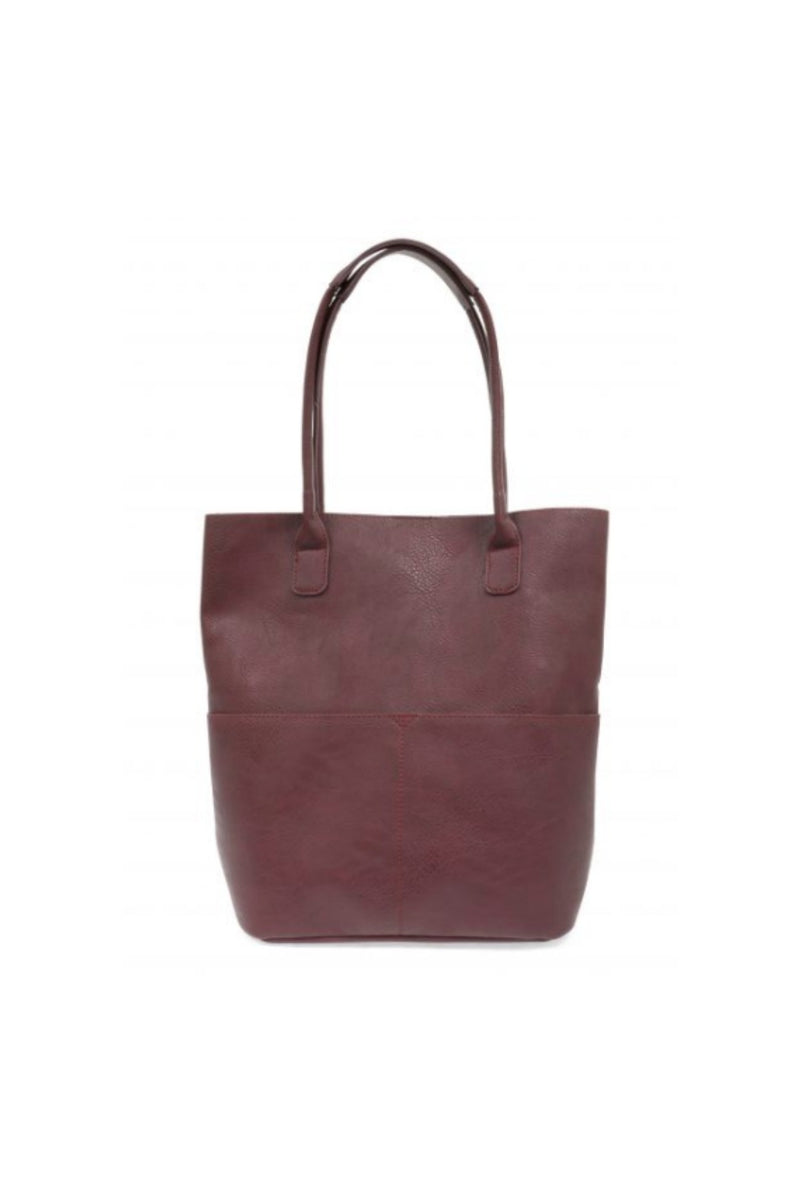 Joy Susan Kelly Front Pocket Tote - Burgundy