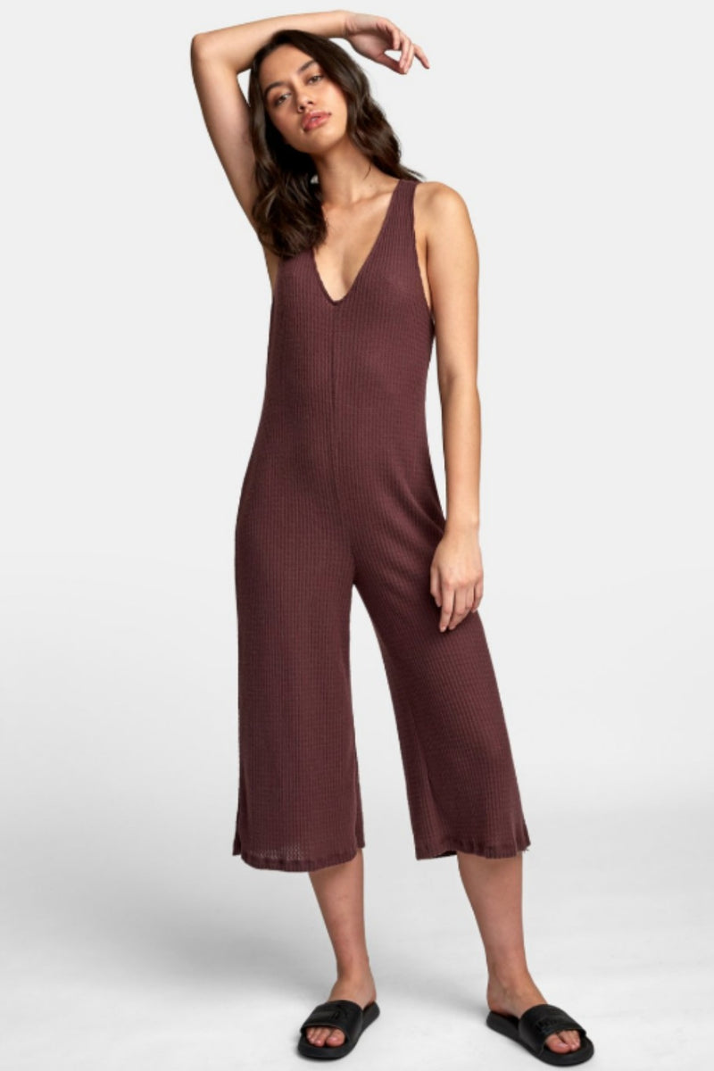 RVCA Singular Thermal Knit Jumpsuit