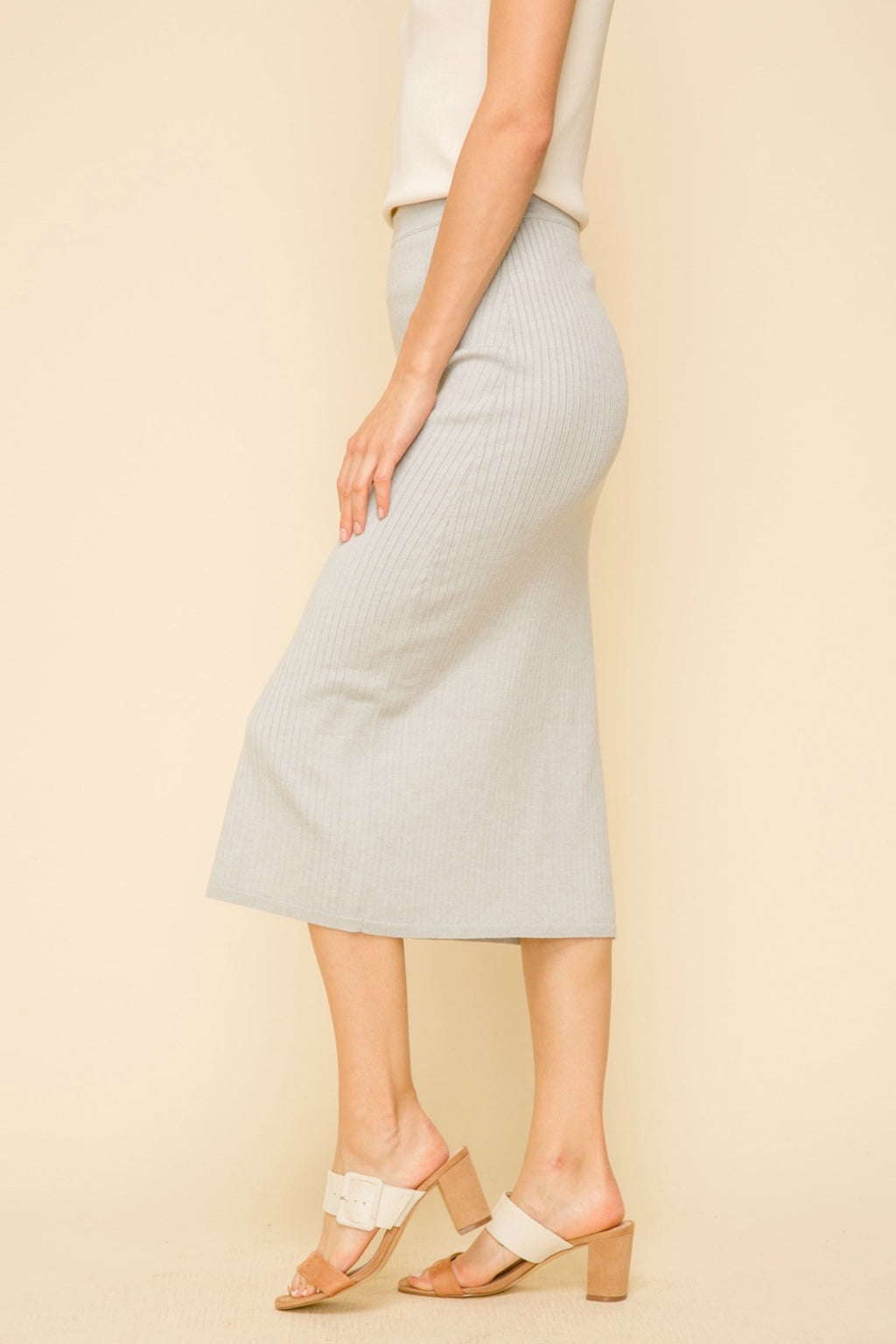 Morgan High Waist Midi Skirt