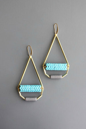 David Aubrey Magnesite & Brass Earrings