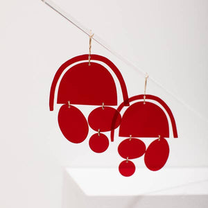 Ashley Mary Chandelier Earrings - Garnet