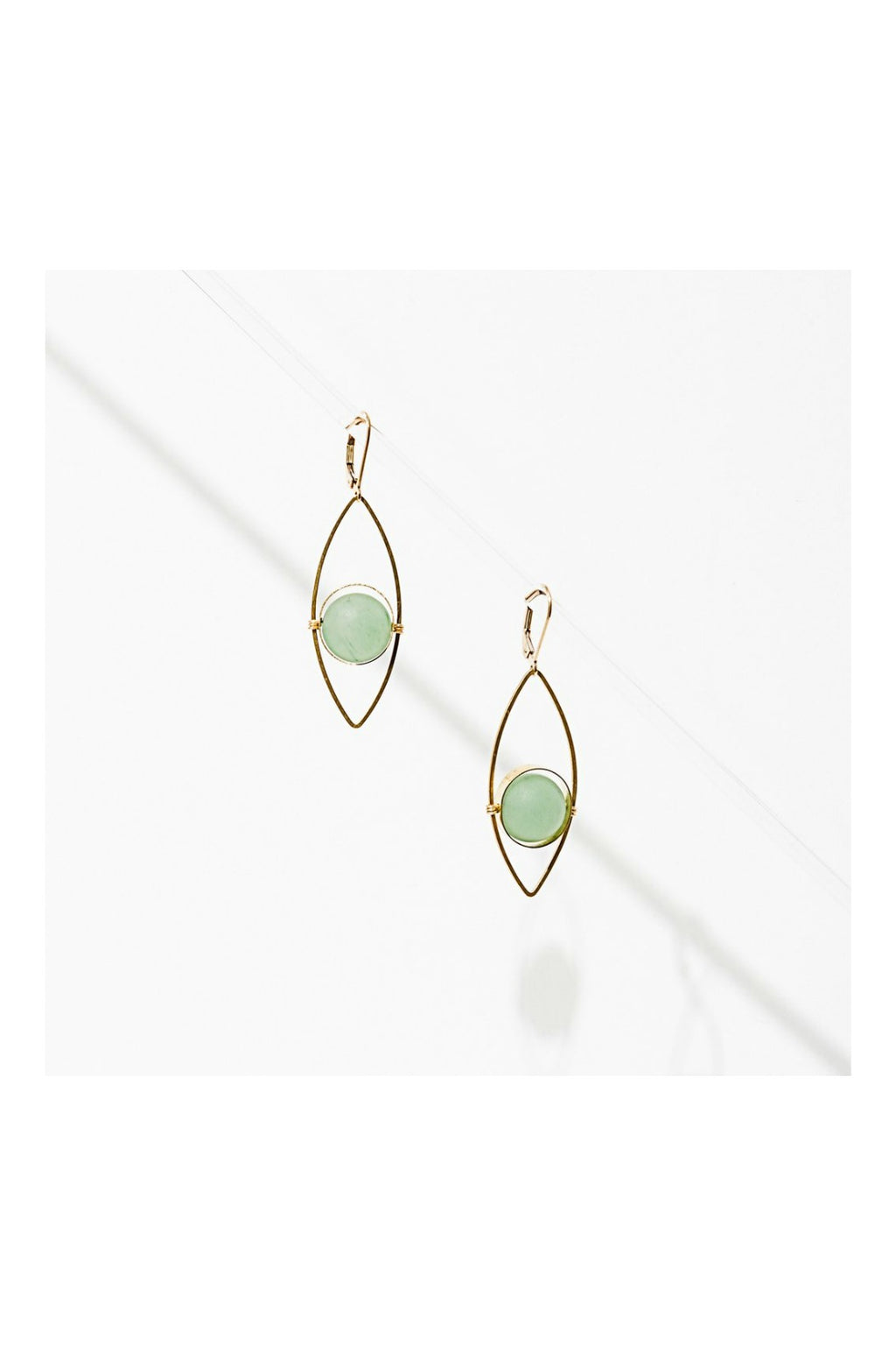 Larissa Loden Tempest Earrings - Green Aventurine