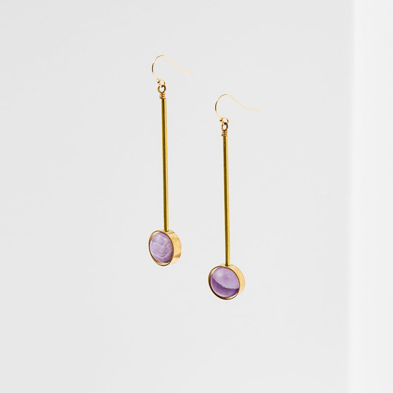 Larissa Loden Aberrant Earrings - Amethyst