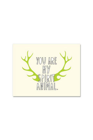 Near Modern Disaster Greeting Card - Spirit Animal