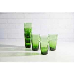 Moroccan Beldi Glass - Green