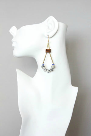 David Aubrey Brass & Hematite Earrings