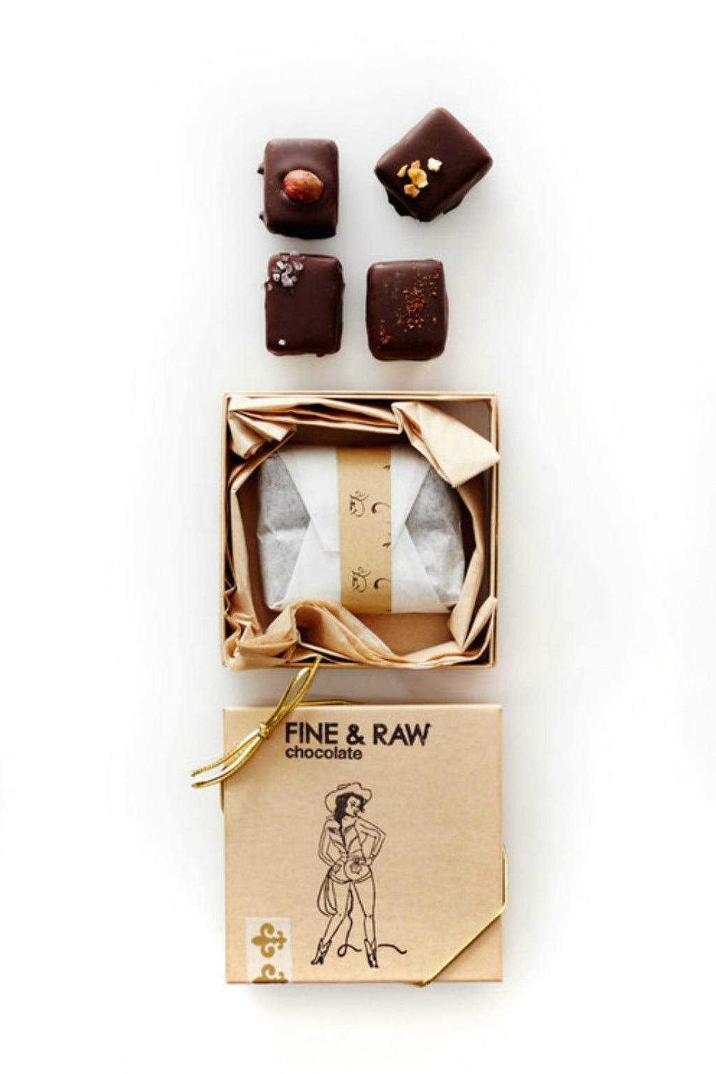 FINE & RAW 4 Piece - Mixed Truffle Box