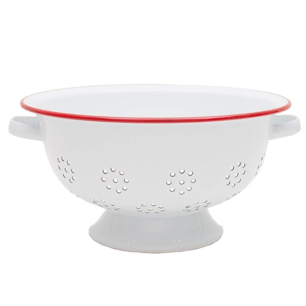 Crow Canyon Home Enamel Colander - Red