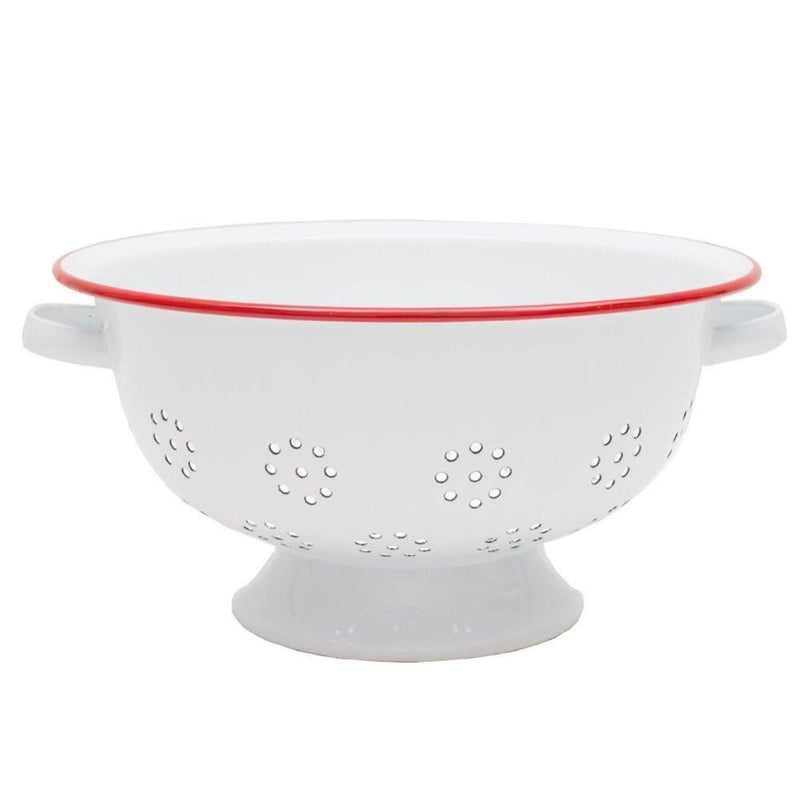 Crow Canyon Home Red Enamel Colander