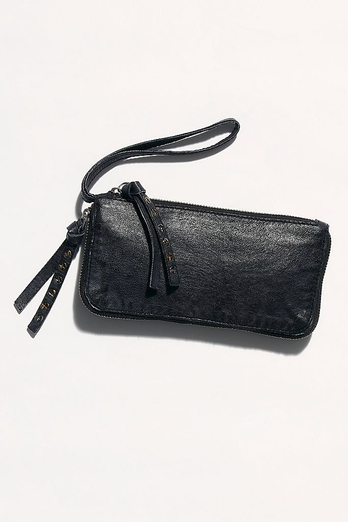 Free People Distressed Wallet - Black