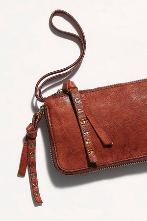 Free People Distressed Wallet - Cognac