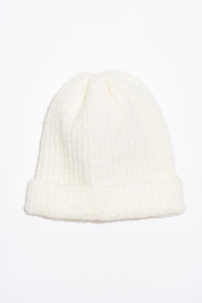 Free People Lullaby Rib Beanie - Ivory