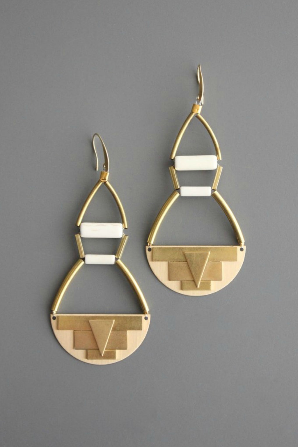 David Aubrey Brass & Magnesite Earrings