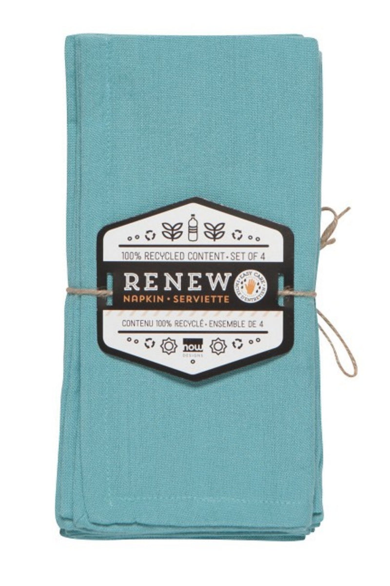 Now Designs Renew Napkins Set of 4 - Turquoise