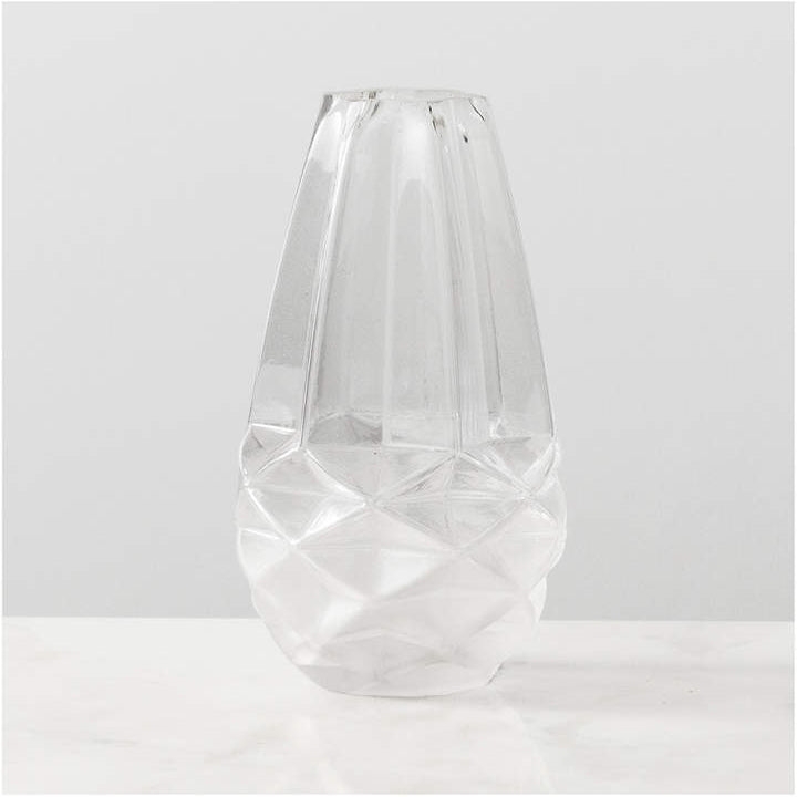Faceted Glass Vase