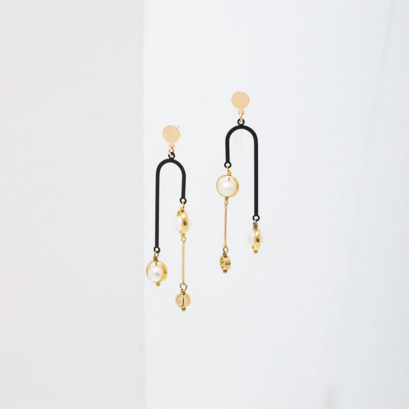 Larissa Loden Tionne Earrings - Black