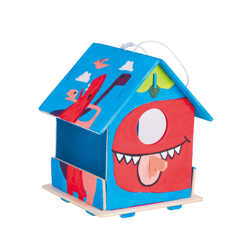 Wooden Puzzle With Paint Kit - Birdhouse