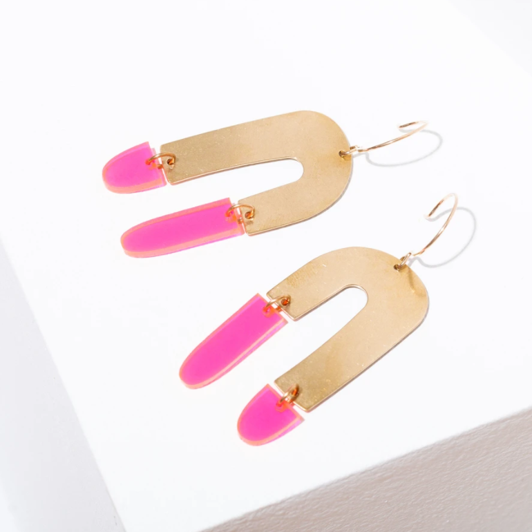 Larissa Loden Shea Earrings - Grapefruit
