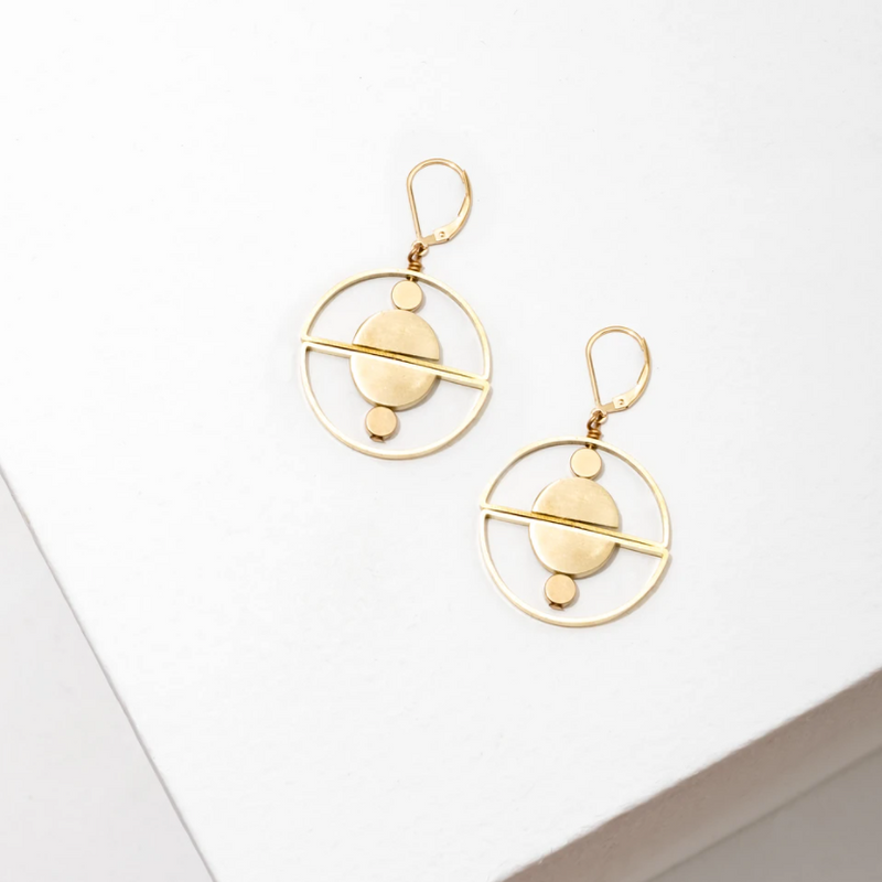 Larissa Loden Valentina Earrings - Brass