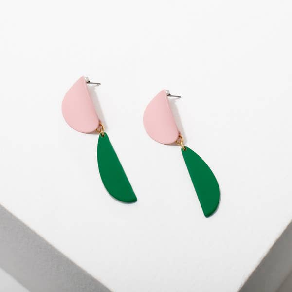 Larissa Loden Yayoi Earrings in Pink