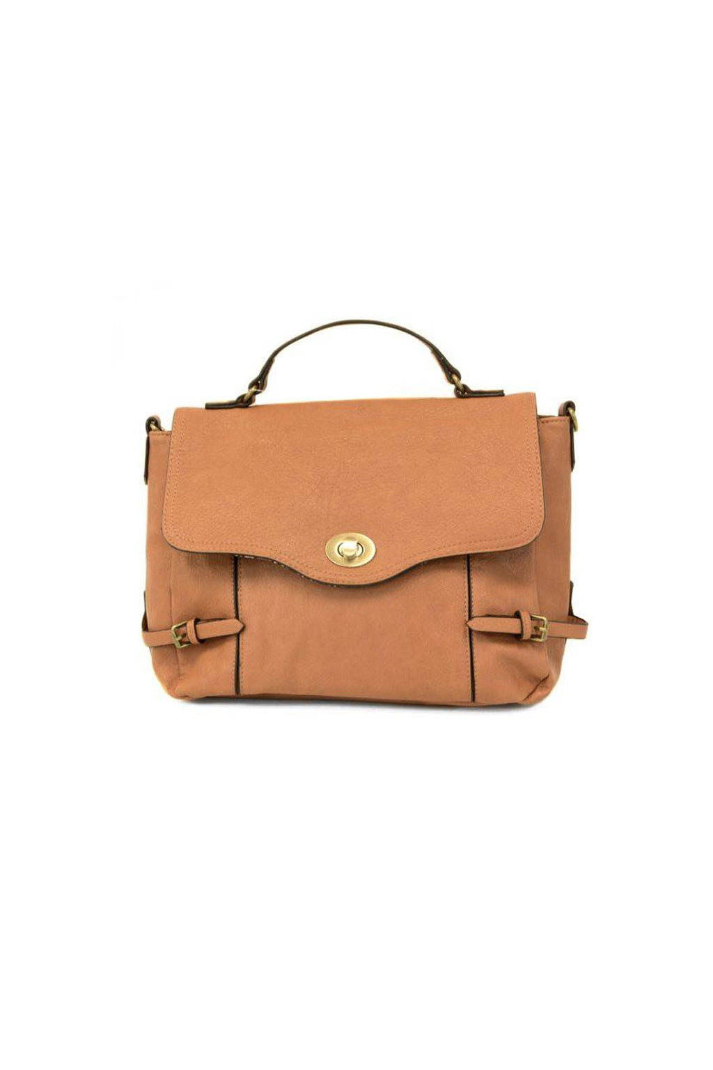 Abigail Convertible Satchel in Bourbon