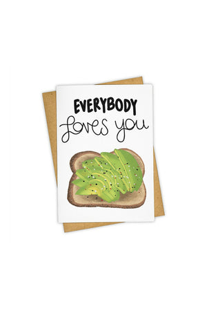 TAY HAM Greeting Card - Avocado Toast