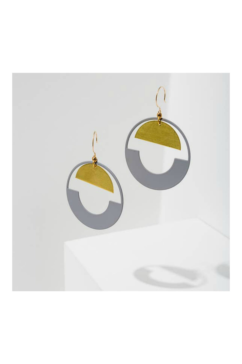 Larissa Loden Baltic Hoop Earrings - Grey