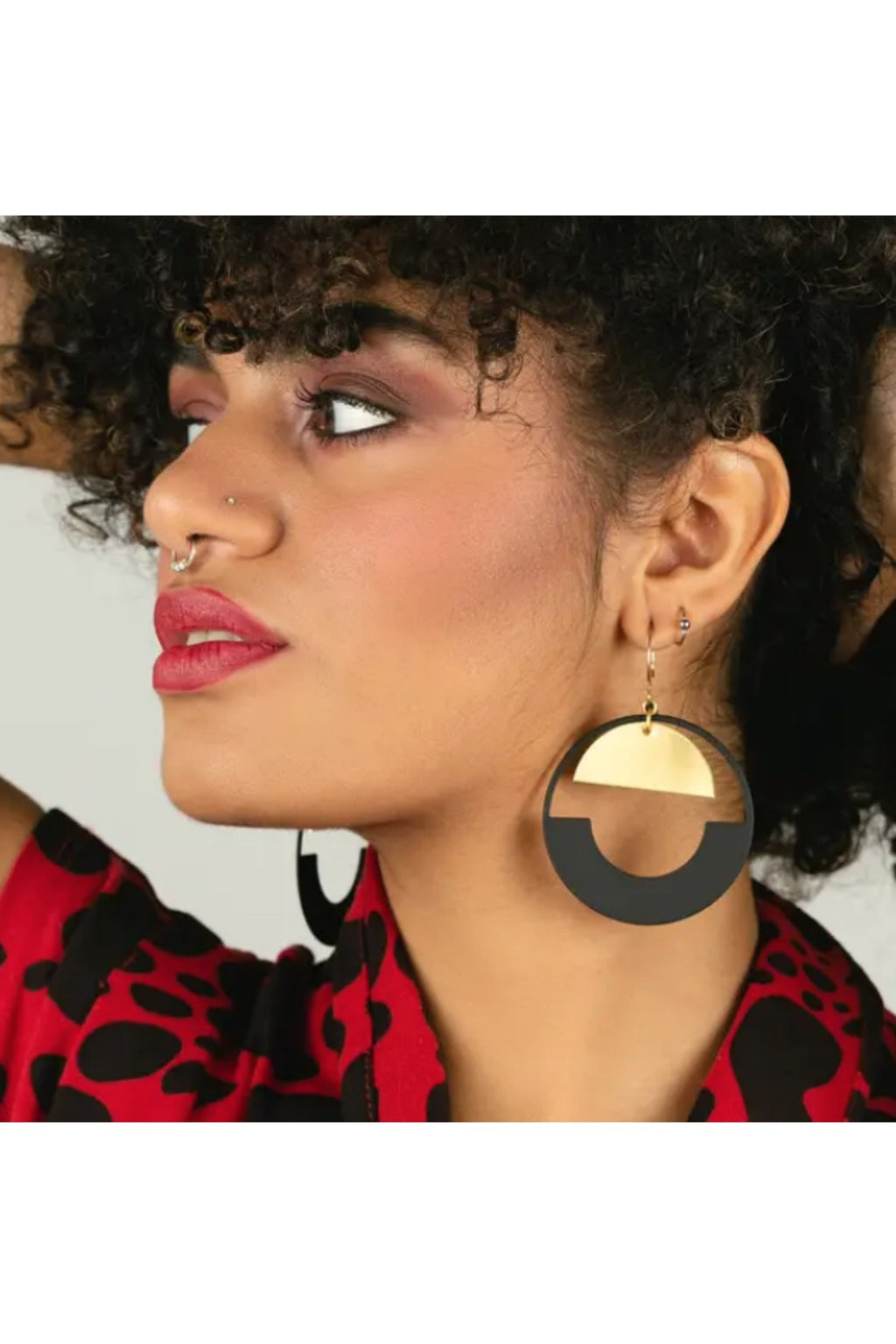 Larissa Loden Baltic Hoop Earrings - Black